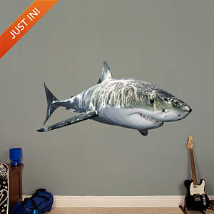 Great White Shark Fathead Wall Decal